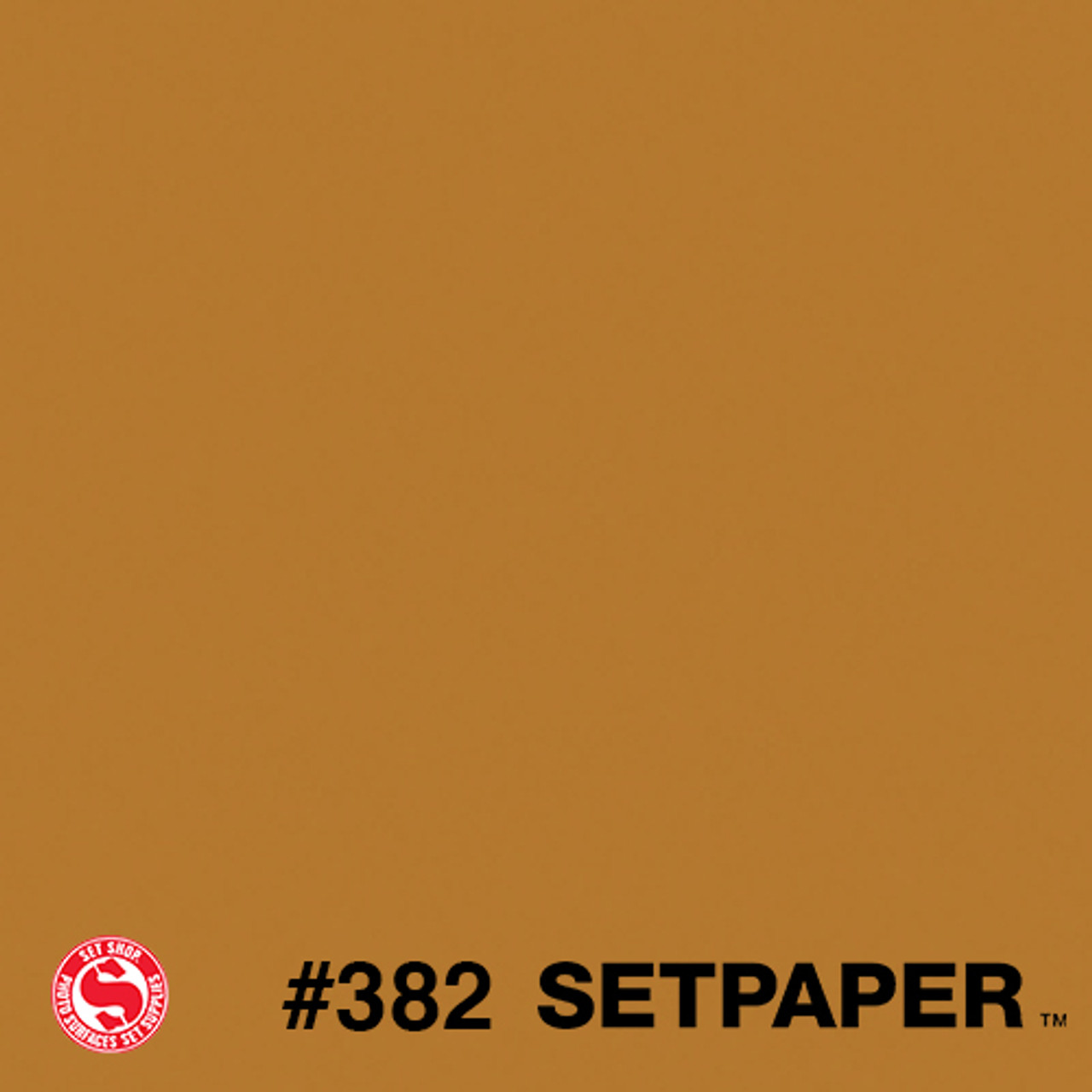 "Flame Retardant SETPAPER - Ochre 107"" x 36' (2.7 x 11m), SEAMLESS BACKGROUND PAPER"