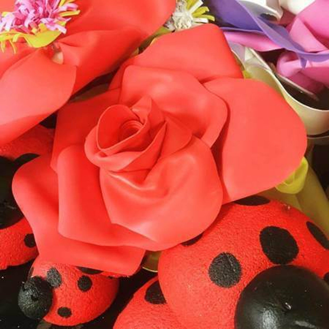 Foam Flower + Foam Lady Bug