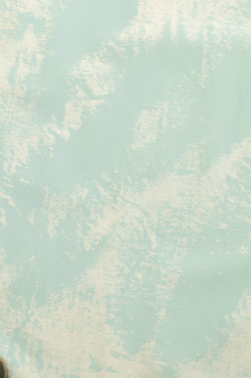 Hand Painted Canvas Backdrop  - Turquoise/White - 9'x12'