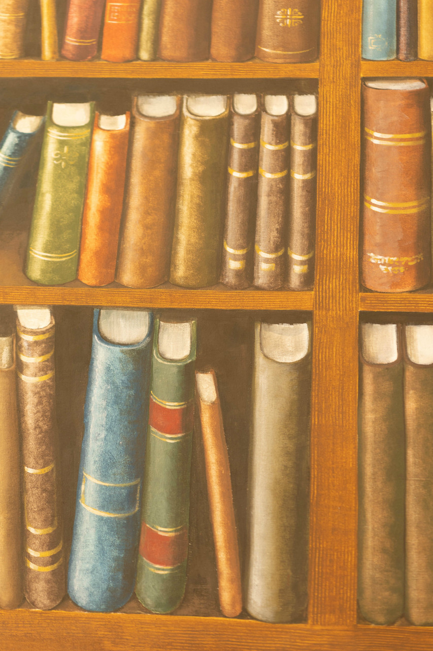 Hand Painted Canvas Backdrop  - Library - 9'x15'