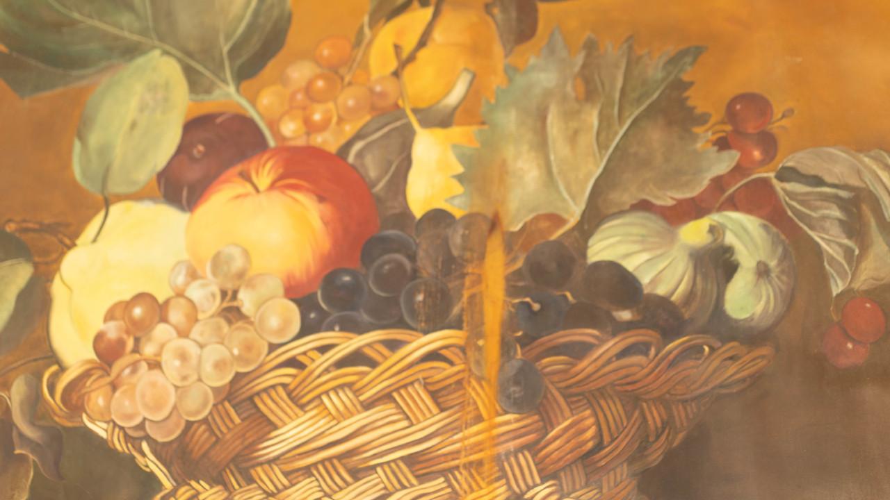 Hand Painted Canvas Backdrop  - Cornacopia - 5'x6'