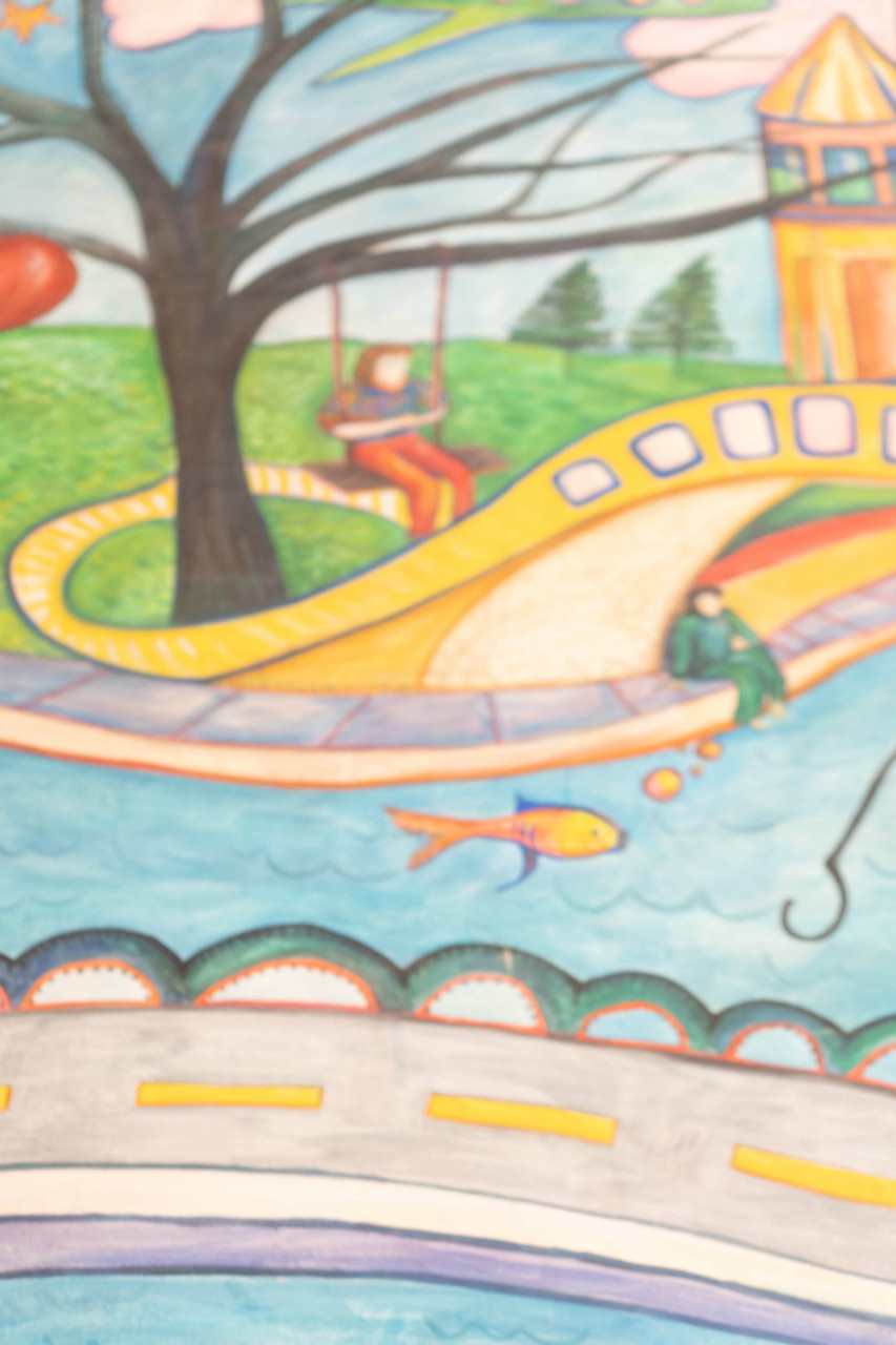 Hand Painted Canvas Backdrop  - Playground - 5'x6'