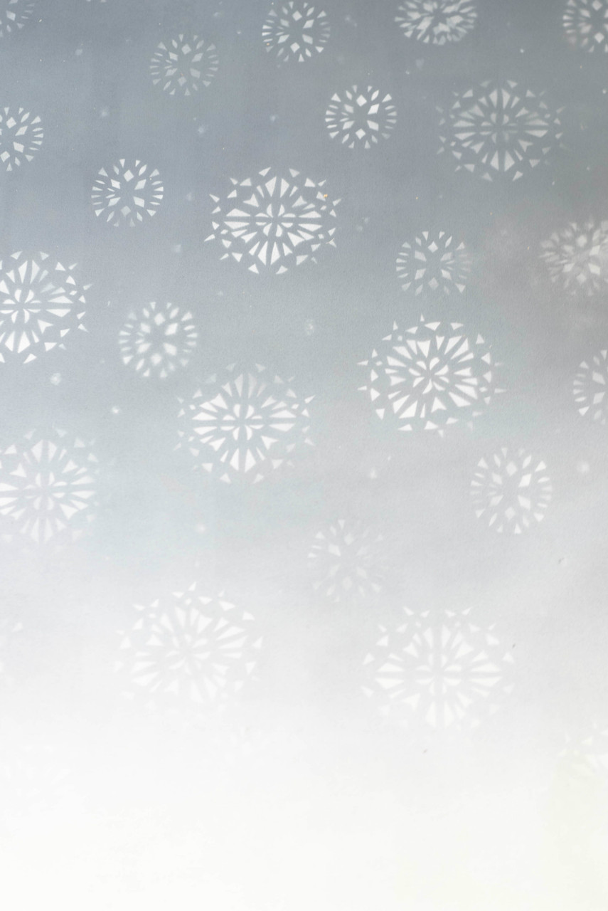 Hand Painted Canvas Backdrop - Snowflake Gradient - 6'x8'