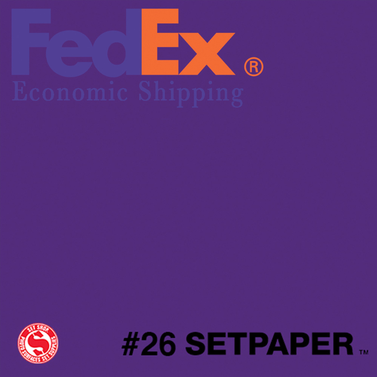 "(ECONOMIC SHIPPING)  SETPAPER - DEEP PURPLE 48"" x 36' (1.3 x 11m)"