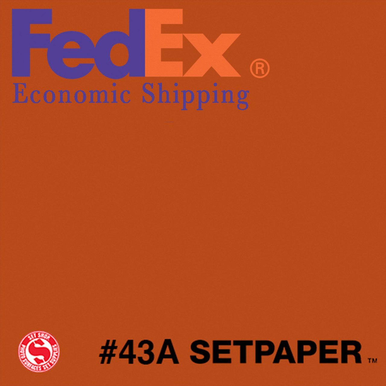 "(ECONOMIC SHIPPING)  SETPAPER - BRIGHT ORANGE 48"" x 36' (1.3 x 11m)"