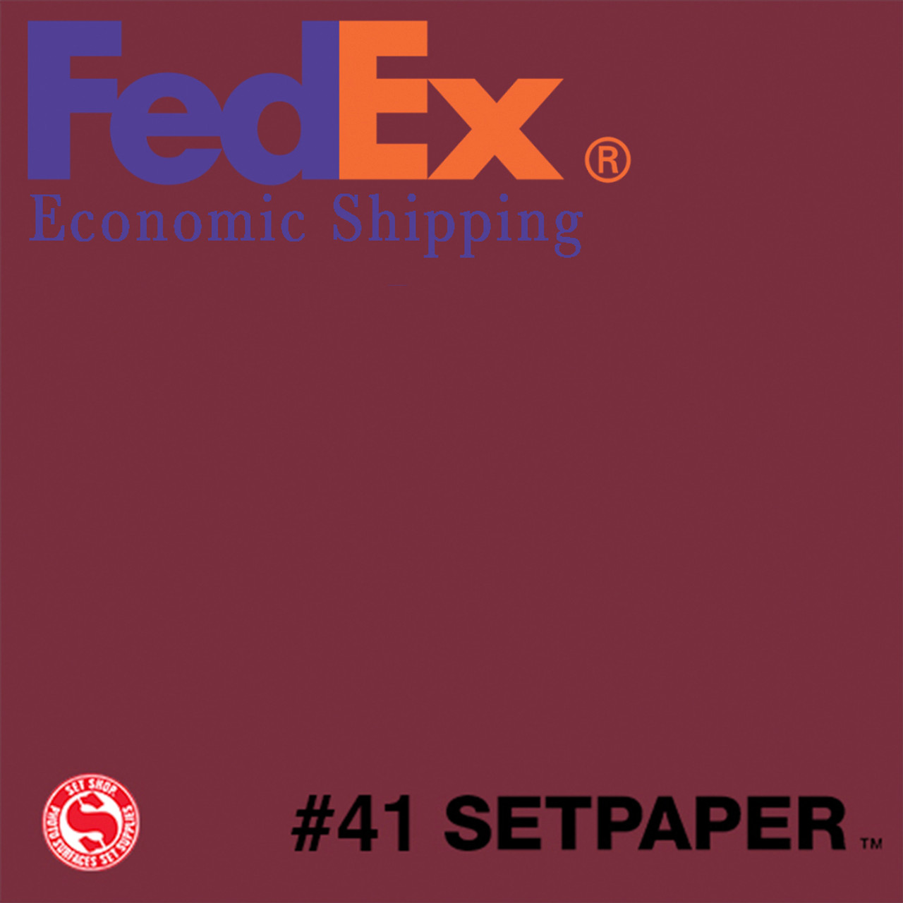 "(ECONOMIC SHIPPING) SETPAPER - RED 48"" x 36' (1.3 x 11m)"