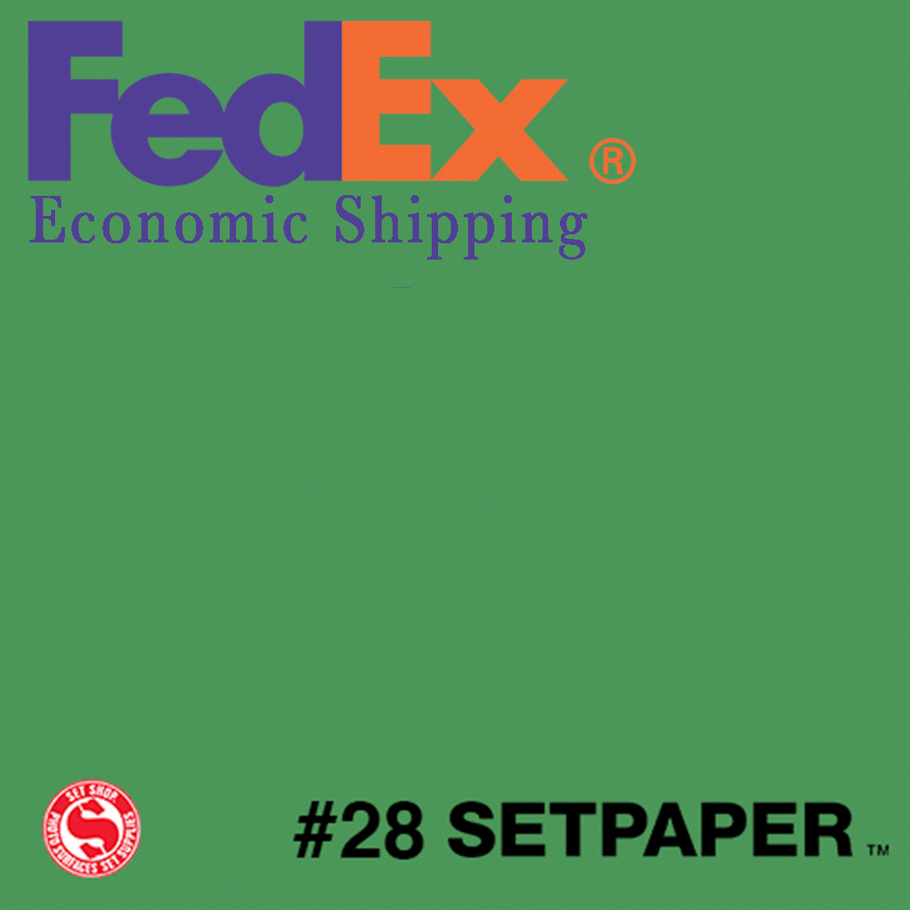 "(ECONOMIC SHIPPING) SETPAPER - BRIGHT GREEN 48"" x 36' (1.3 x 11m)"