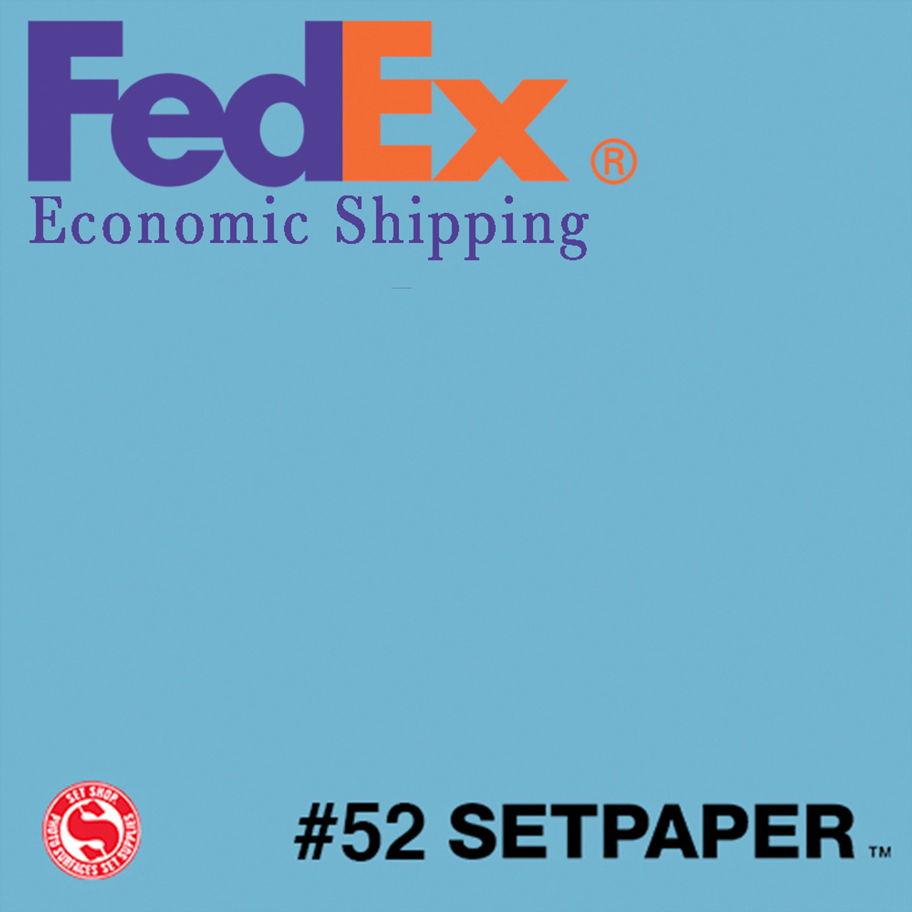 "(ECONOMIC SHIPPING) SETPAPER - PALE BLUE 48"" x 36' (1.3 x 11m)"