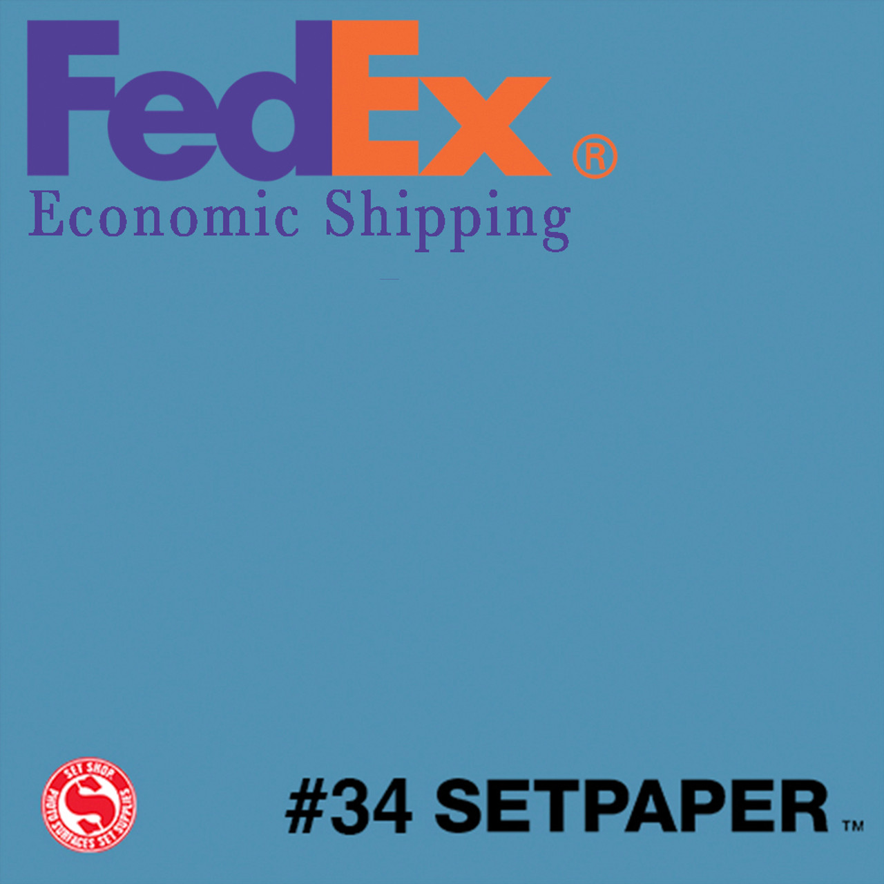(ECONOMIC SHIPPING) SETPAPER - GULF BLUE 48″ x 36' (1.3 x 11m)
