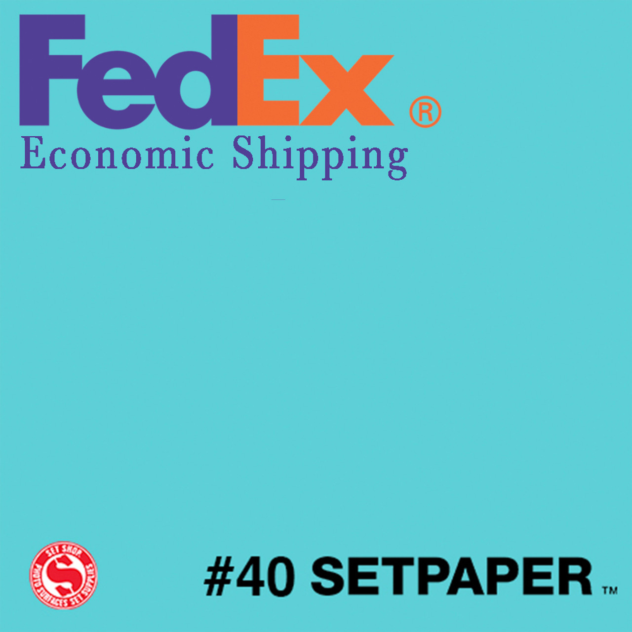 "(ECONOMIC SHIPPING) SETPAPER - AQUA BLUE 48"" x 36' (1.3 x 11m)"