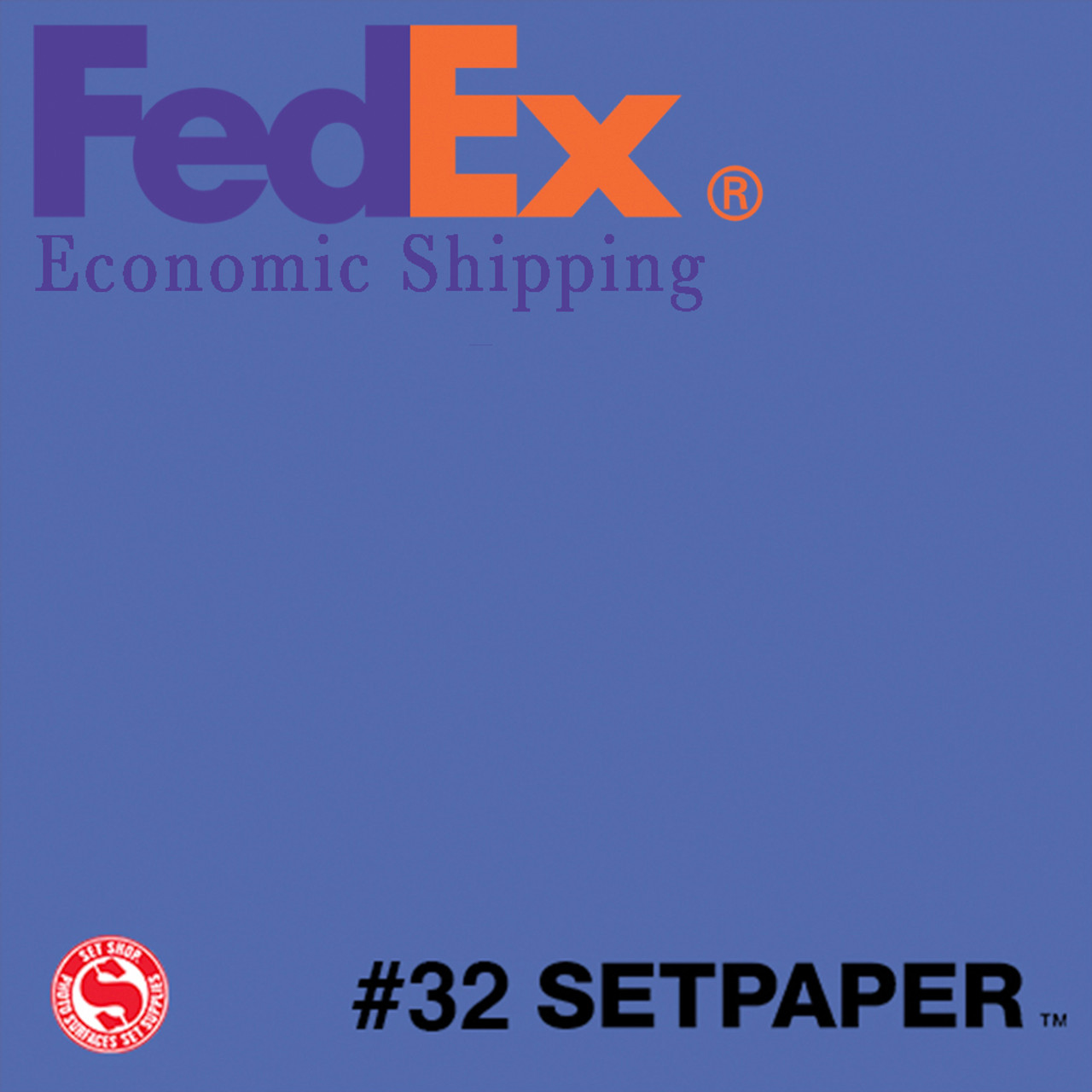 "(ECONOMIC SHIPPING) SETPAPER - ROYAL BLUE 48"" x 36' (1.2 x 11m)"