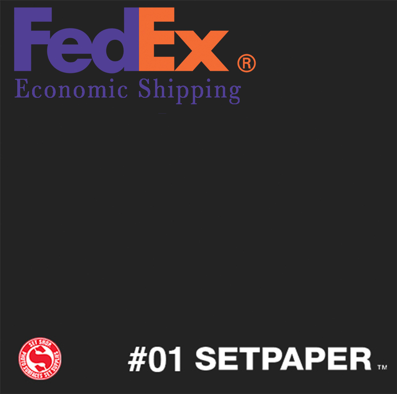 "(ECONOMIC SHIPPING) SETPAPER - BLACK 48"" x 36' (1.2 x 11m)"