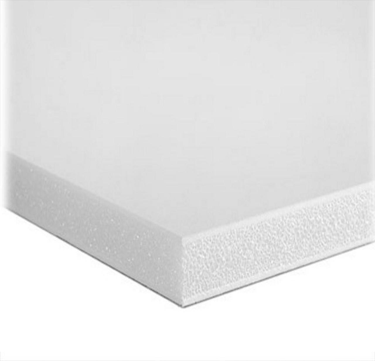 """Foamboard - White/White - 4' x 8' x 1"""""""