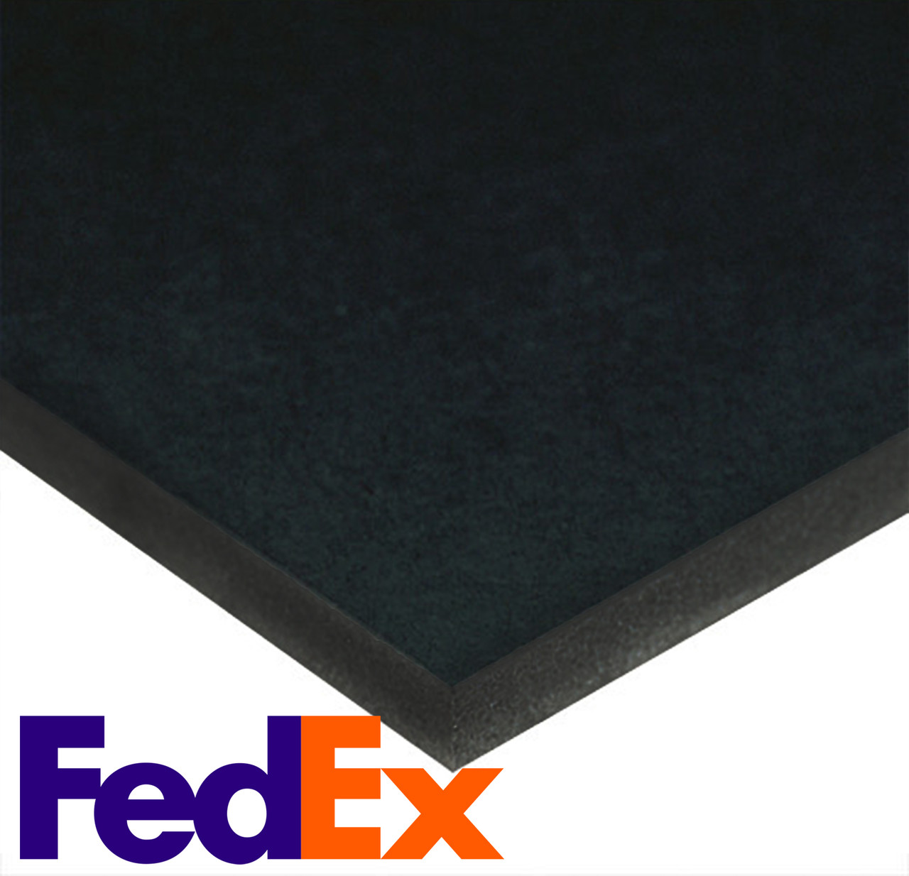 "Foamboard - Black/Black - 40"" x 40"" x 3/16""  (CHEAPEST SHIPPING OPTION)"