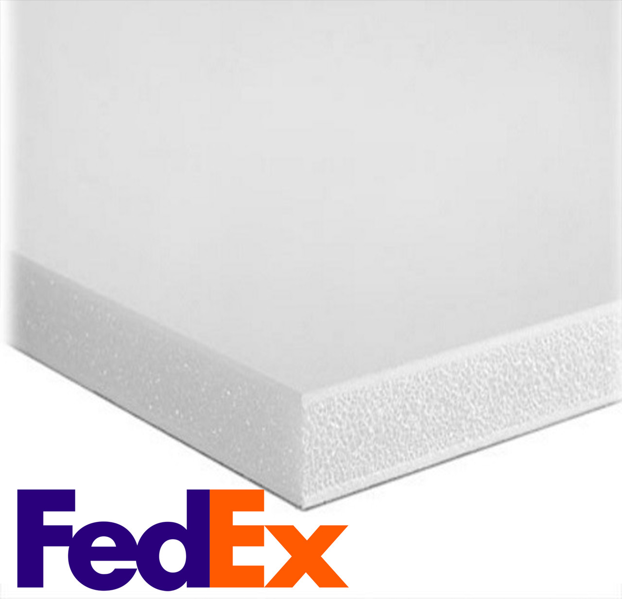 "Foamboard - White/White - 40"" x 40"" x 3/16"" (CHEAPEST SHIPPING OPTION)"