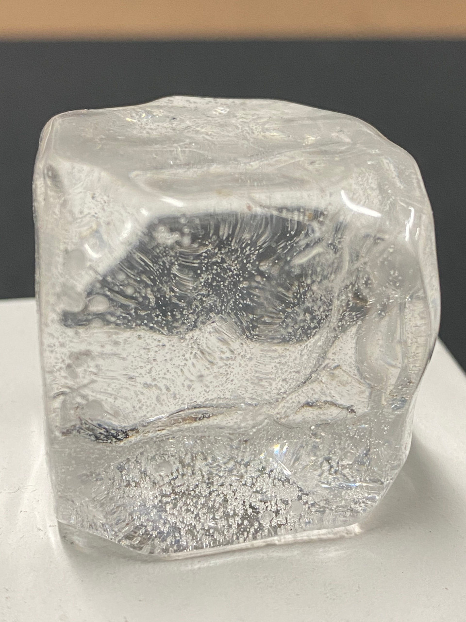 """CUSTOM HAND CASTED ICE CUBES WITH BUBBLE    2"""""""
