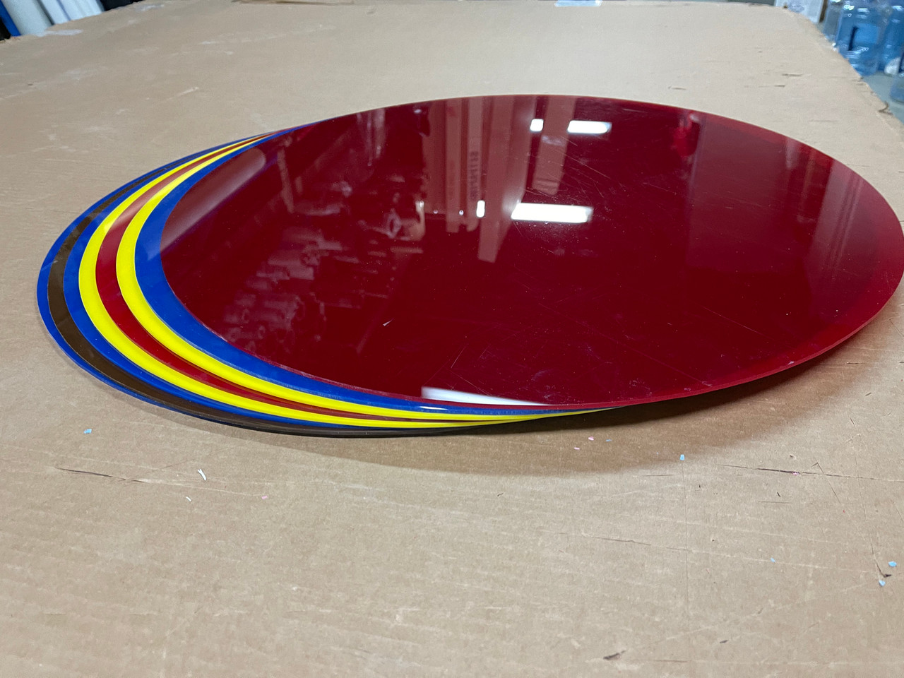"""24"""" Plexi Circle scrap -  For Purchase - Red"""
