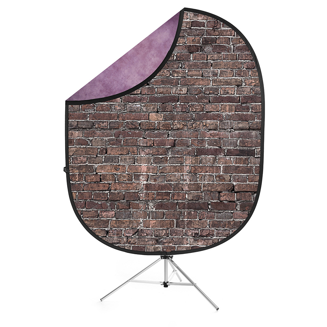 Collapsible Background  Grunge Brick / Purple 5'x7'