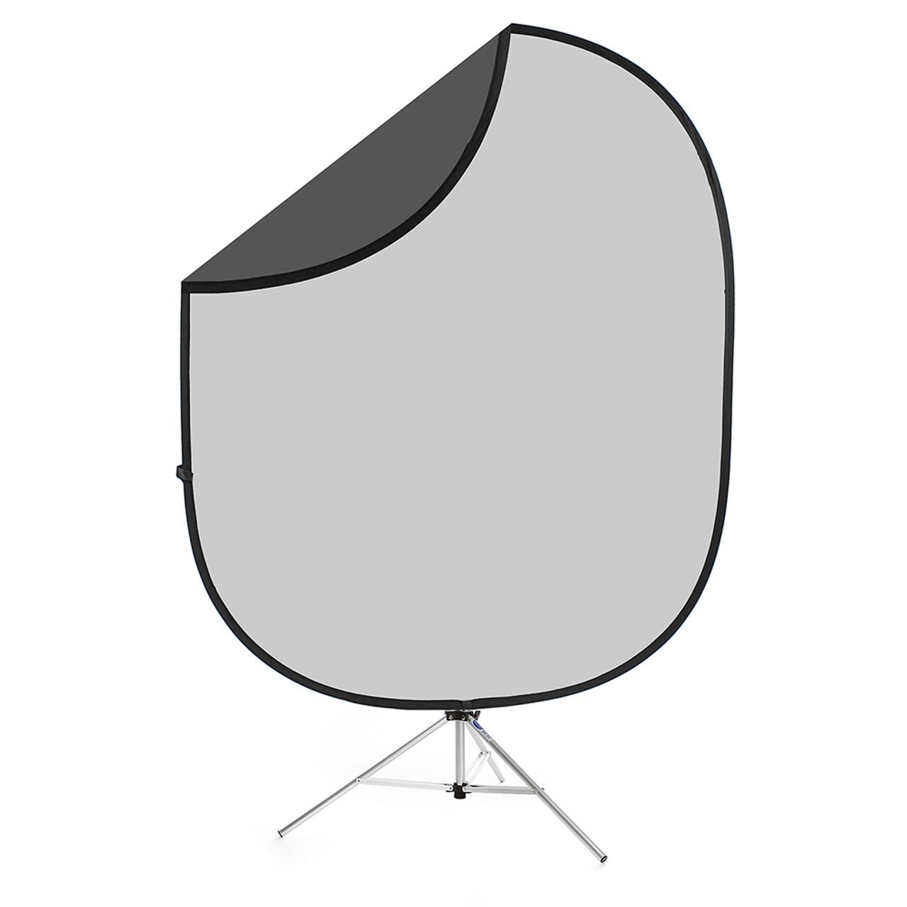 Collapsible Background Dark / Light Grey 6'x7'