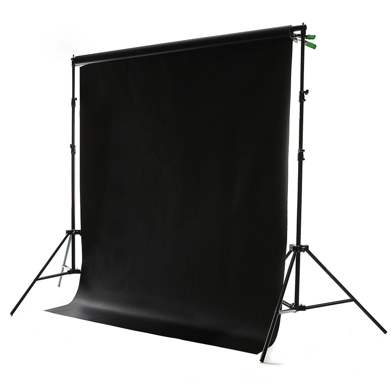 Matte Black Vinyl Backdrop 8' x 10'