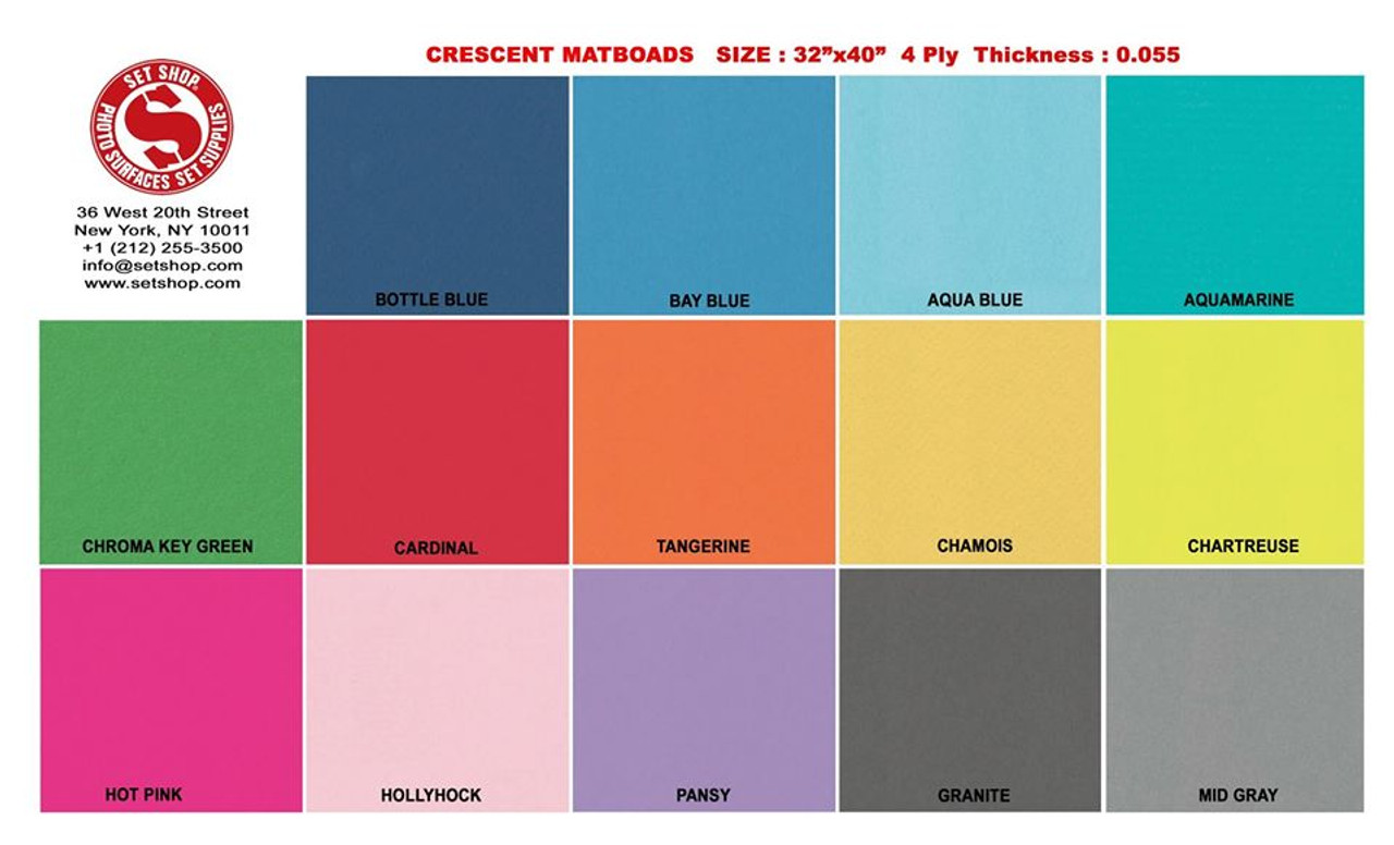 "Chroma Key Green Matboard Showcard - 32"" x 40"""
