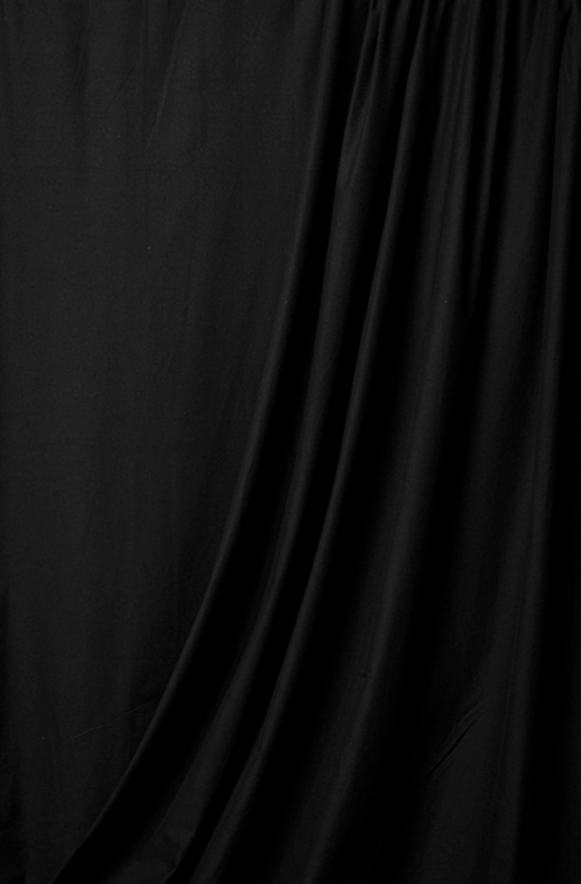 Rental-10' x 12' Solid Color Muslin, Black (3.048m x 3.657m)