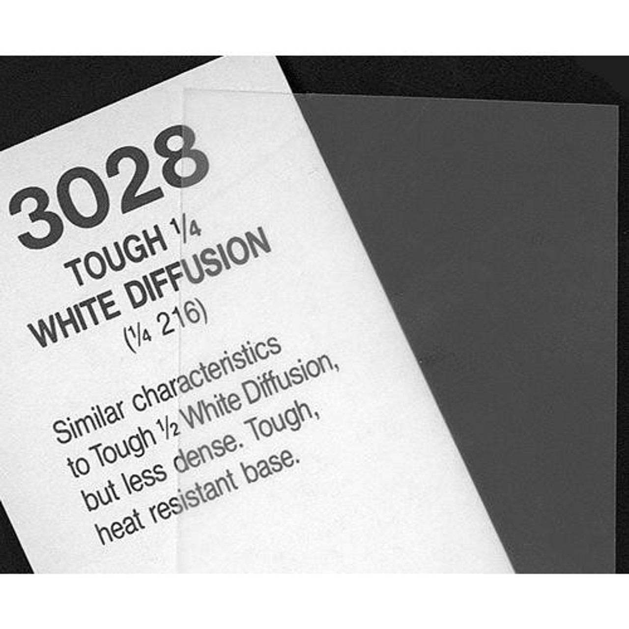 "#3028 Rosco Cinegel 1/4 Tough White Diffusion, 20x24"", Gels"