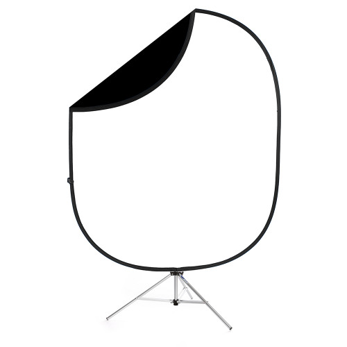 Collapsible Background Black/White 6'x7'