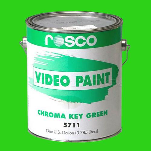 55CHG - Rosco Chromakey GREEN  Paint Gallon, Video Paint