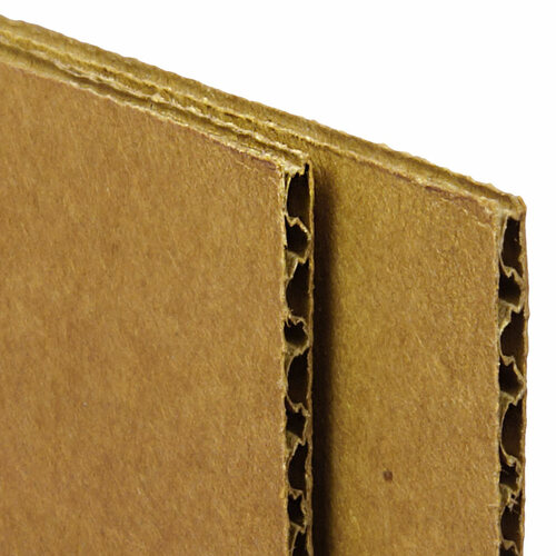 """Kraft"" Color Corrugated Cardboard Sheets 4'x8' Floor Protection"