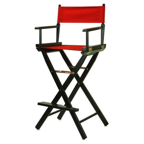 "Rental - Fold up Directors Chair 30"" (Black or Red)"