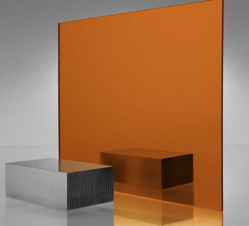 4x8' Mirrored Acrylic ORANGE 1119