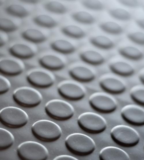 "Rubber Pirelli Circle Tile Mat 36x48"""