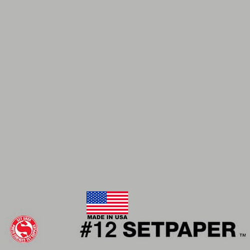 "SETPAPER - SMOKE GREY 107"" x 36' (2.7 x 11m)"