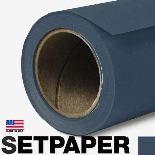 SETPAPER - DARK BLUE 107″ x 36' (2.7 x 11m)