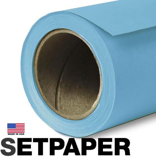 SETPAPER - MIDDAY BLUE 107″ x 36' (2.7 x 11m)