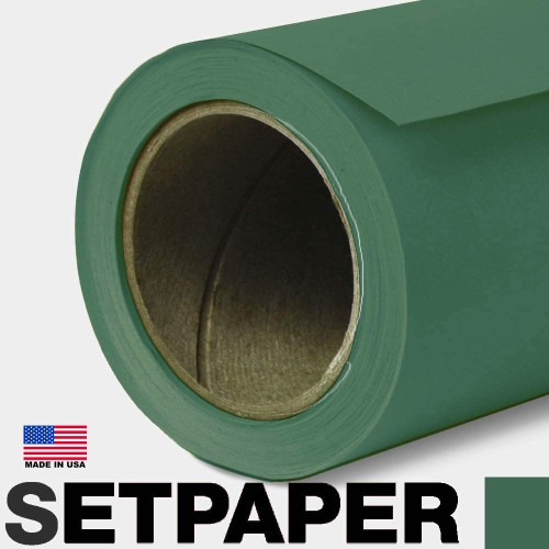"SETPAPER - DARK GREEN 107"" x 36' (2.7 x 11m)"