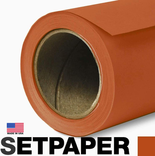 """SETPAPER - BRIGHT ORANGE 107"""" x 36' (2.7 x 11m)"""
