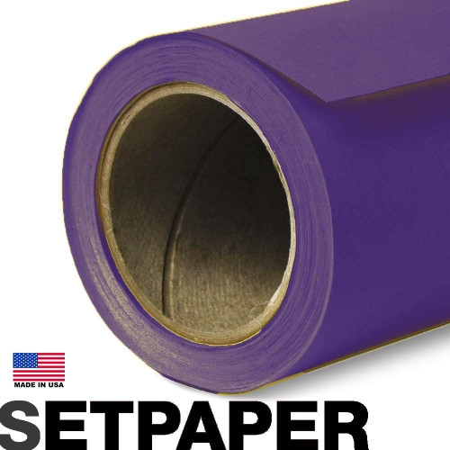 """SETPAPER - DEEP PURPLE 107"""" x 36' (2.7 x 11m)"""