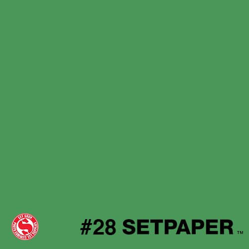 "128 SETPAPER - BRIGHT GREEN (CHROMA GREEN)  53"" x 36' (1.3 x 11m)"