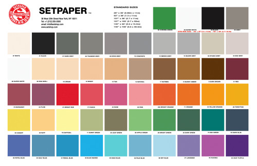 SETPAPER COLOR CHART (E-MAIL COLOR CHART)