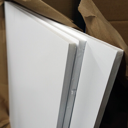 "White Foamcore 39"" x 48"" 1/2"" Thick #1"