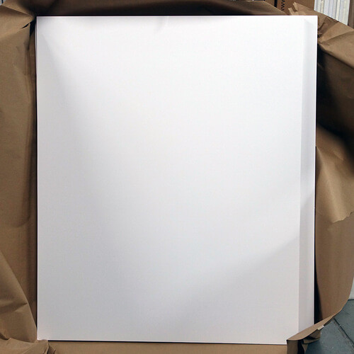 "White Foamcore 39"" x 48"" 1/2"" Thick #2"