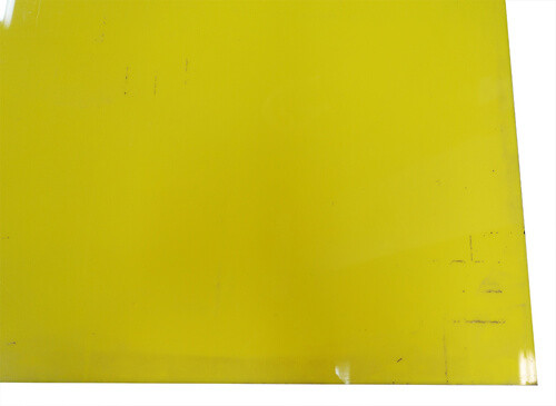 "Yellow Acrylic 51"" x 69"" 1/2"" 1/8"" Thick #1"