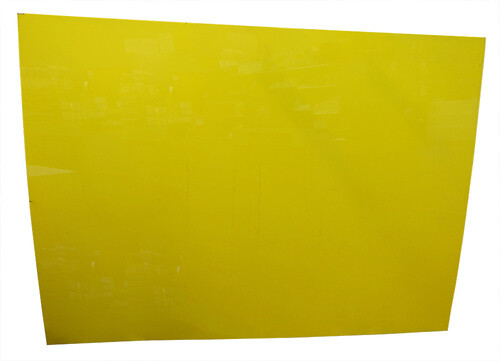 "Yellow Acrylic 51"" x 69"" 1/2"" 1/8"" Thick #2"