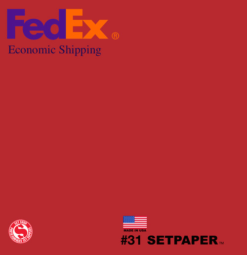 "(ECONOMIC SHIPPING) SETPAPER - BRIGHT RED 48"" x 36' (1.3 x 11m)"