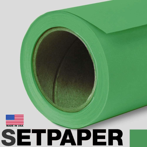"28 SETPAPER - BRIGHT GREEN (CHROMA) 96"" x 36' (2.4 x 11m) Shipping Friendly"