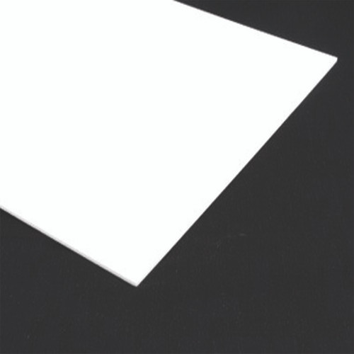 """LOT OF 10 .5mm Frosted Semi-Opaque White Plastic Lens Sheet 22.75/"""" x 9.25/"""""""