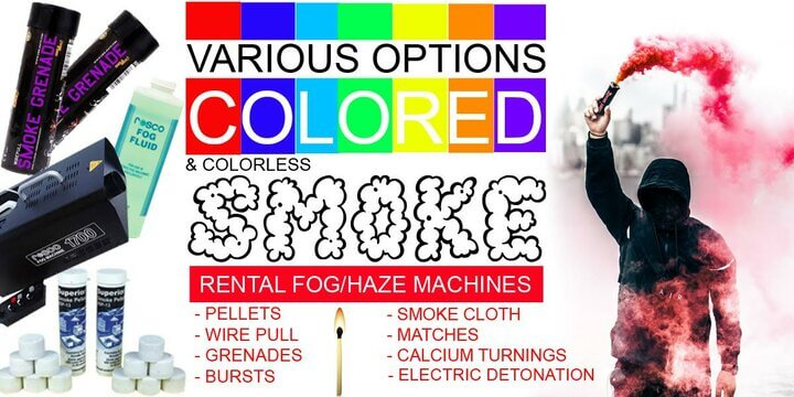 Various Options Colored Smoke