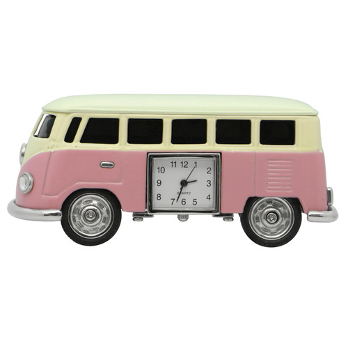 Pink Campervan Clock